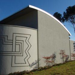 Façade murale - Marina House par Joao Diniz Lagoa Santa, Brésil