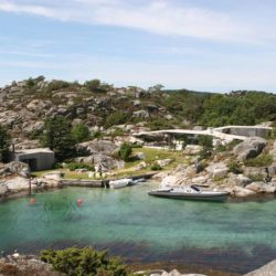 Façade panoramique océan & site - Lyngholmen par Lund Hagem - Lillesand, Norvege
