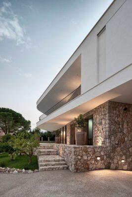 Façade rez de chaussée en pierres - Contemporary-Villa par A2CM - Ceschia Mentil - France