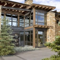 Façade terrasse - Home-Aspen par KH Webb - Colorado, Etats-Unis