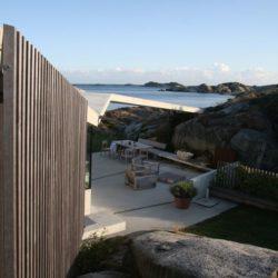 Façade terrasse - Lyngholmen par Lund Hagem - Lillesand, Norvege