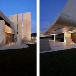 Grande façade terrasse illuminée - Designs-Sculptural par A-Cero - Madrid, Espagne