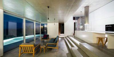 Pièce de vie - Contemporary-Rural-Home par Camarim Arquitectos - Gateira, Portugal
