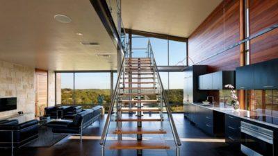 Pièce de vie - Glass-House par Jim Gewinner Texas, USA