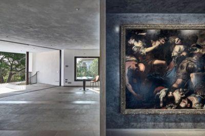 Pièce principale étage supérieur & tableau déco - Contemporary-Villa par A2CM - Ceschia Mentil - France