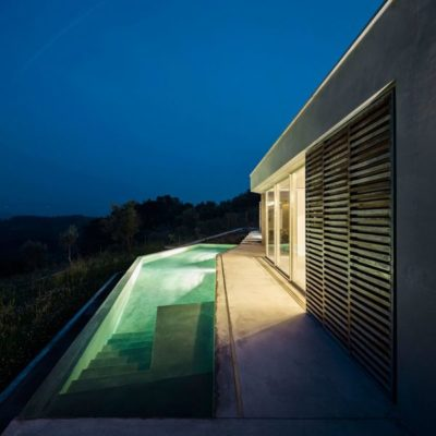 Piscine illuminée - Contemporary-Rural-Home par Camarim Arquitectos - Gateira, Portugal