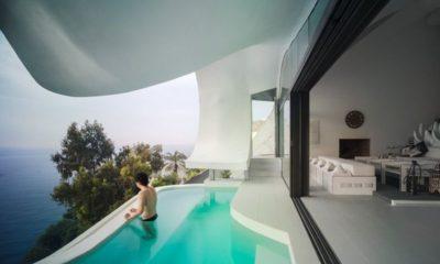 Piscine & vue panoramique Méditerranée - Casa-del-Ancantilado par Gilbartolome Architects - Salobrena, Espagne