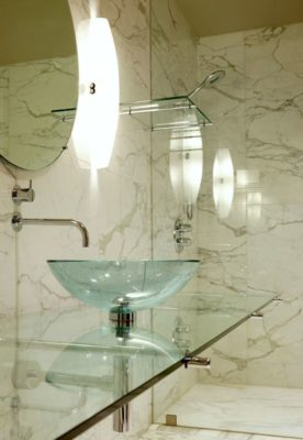 Salle de bains - Glass-House par Jim Gewinner Texas, USA