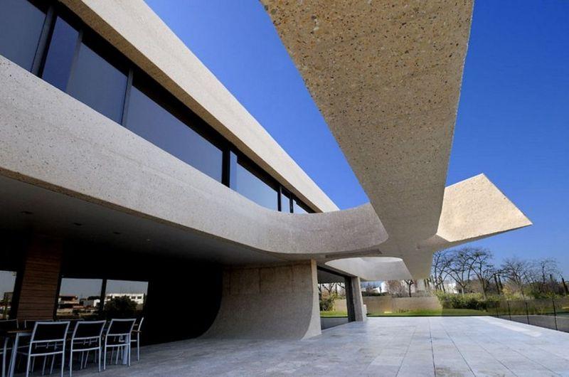 Salle séjour ouverte & grande terrasse - Designs-Sculptural par A-Cero - Madrid, Espagne