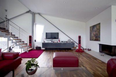 Salon & écran TV - High-Tech-Modern-Home par Eppler Buhler, Allemagne