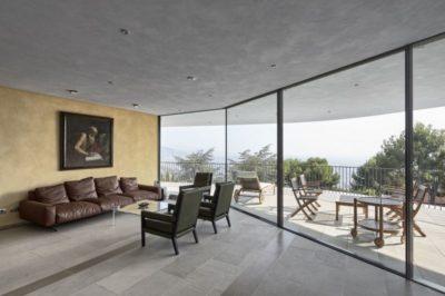 Salon étage supérieur - Contemporary-Villa par A2CM - Ceschia Mentil - France