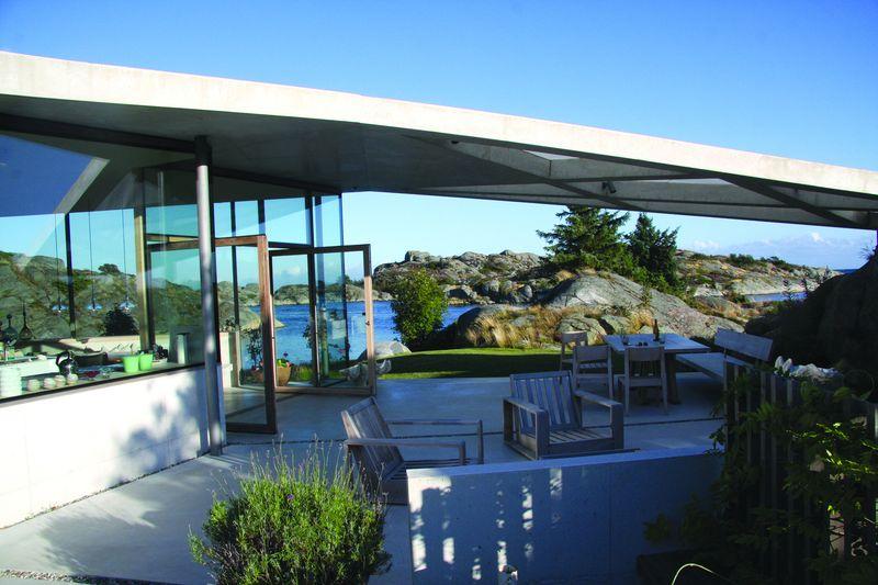 Salon terrasse design - Lyngholmen par Lund Hagem - Lillesand, Norvege