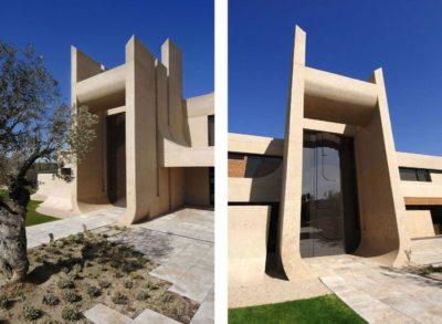 Structure pilonne béton entrée - Designs-Sculptural par A-Cero - Madrid, Espagne