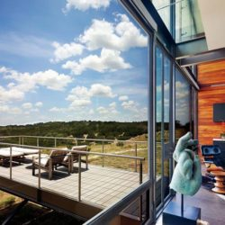 Terrasse porte a faux - Glass-House par Jim Gewinner Texas, USA