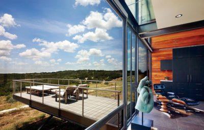 Terrasse porte a faux - Glass-House par Jim Gewinner Texas, USA