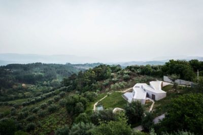 Vue panoramique paysage - Contemporary-Rural-Home par Camarim Arquitectos - Gateira, Portugal