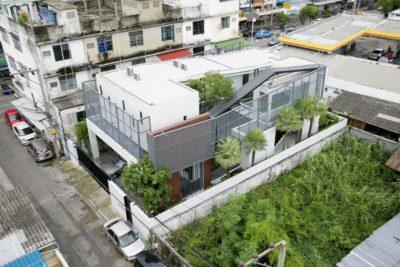 Vue panoramique site - chokchai-4-house par Archimontage Design - Bangkok, Thailande
