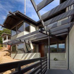 façade ouvertures vitrées - Lopez-House par Martin Fenlon - Los Angeles, USA