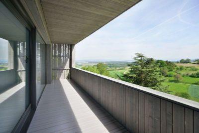 Balcon en bois - House-Lendenmann par L3P Architekten - Regensberg, Suisse