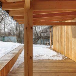 Bois de soutènement toit - House-Tarusa par Project905 - Tarusa, Russie