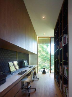 Bureau & bubliothèque - Home-Overlooks par Shaun Lockyer Architects - Queensland, Australie