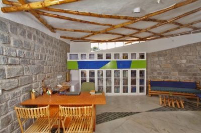 Bureau & mini salon - Bamboo-Symphony par Manasaram Architects - Bangalore, Inde