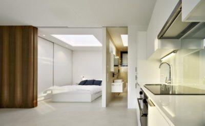 Chambre & salle bains - Mirror-Houses par Peter Pichler - Bolzano, Italie