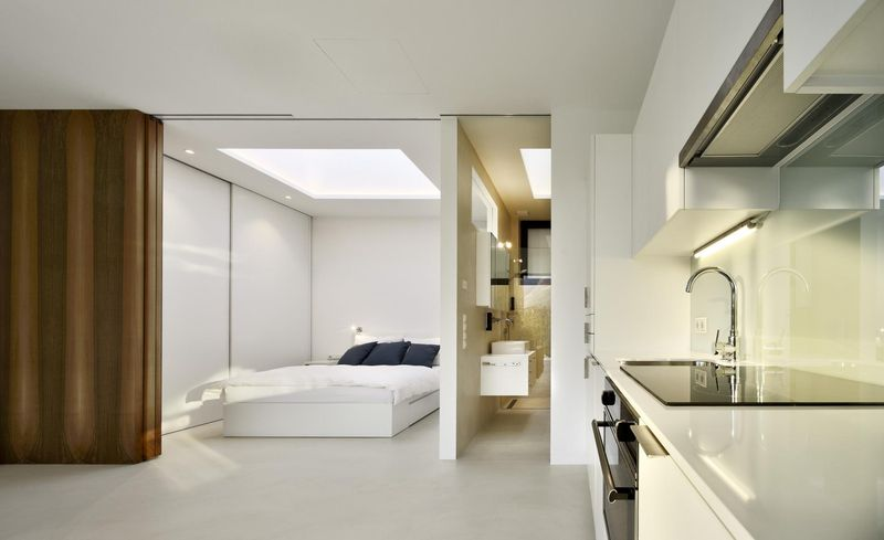 Chambre & salle bains - Mirror-Houses par Peter Pichler - Bolzano, Italie