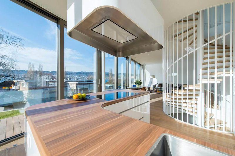 Architecture en courbes pour maison aux apparences de for Architecture courbe