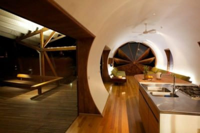 Cuisine & salon - Drew-House par Anthill Constructions - Queensland, Australie