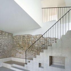 Escalier accès étage supérieur - House-Lendenmann par L3P Architekten - Regensberg, Suisse