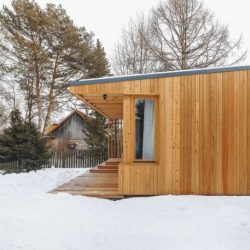 Extension façade bois - House-Tarusa par Project905 - Tarusa, Russie