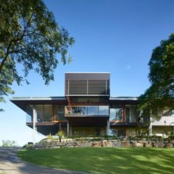 Façade jardin - Home-Overlooks par Shaun Lockyer Architects - Queensland, Australie
