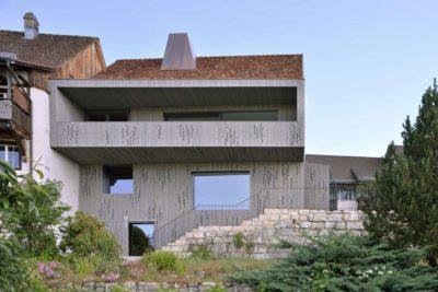 Façade jardin - House-Lendenmann par L3P Architekten - Regensberg, Suisse