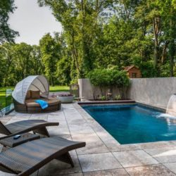 Façade jardin & piscine - Cunius Residence par Paul Macht - Etats-Unis