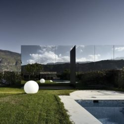Façade jardin & piscine - Mirror-Houses par Peter Pichler - Bolzano, Italie