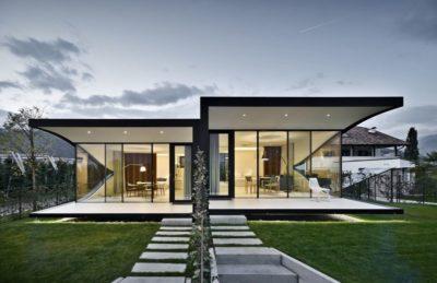 Façade jardin & terrasse ancienne maison - Mirror-Houses par Peter Pichler - Bolzano, Italie