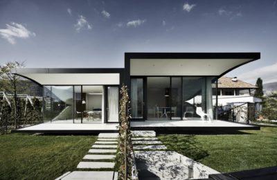Façade jardin & vue salon - Mirror-Houses par Peter Pichler - Bolzano, Italie