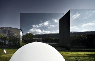 Façade miroir - Mirror-Houses par Peter Pichler - Bolzano, Italie