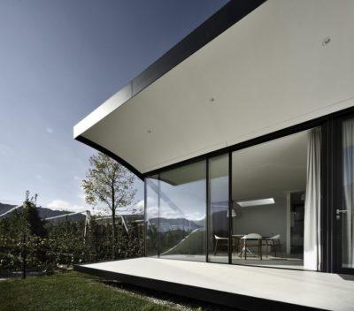 Façade terrasse - Mirror-Houses par Peter Pichler - Bolzano, Italie