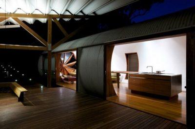 Façade terrasse & entrée - Drew-House par Anthill Constructions - Queensland, Australie