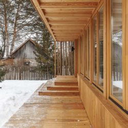 Façade terrasse & ouvertures vitrées - House-Tarusa par Project905 - Tarusa, Russie