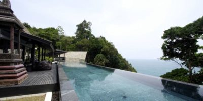 Façade terrasse & piscine - Villa-Yin - iles Adaman