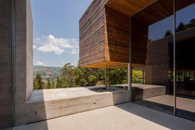 Façade terrasse & vue panoramique paysage - Geres-House par Carvalho Araujo - Vieira do Minho, Portugal