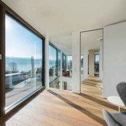 Façade vitrée ouvrante - Flexhouse par Evolution Design - Meilen, Suisse