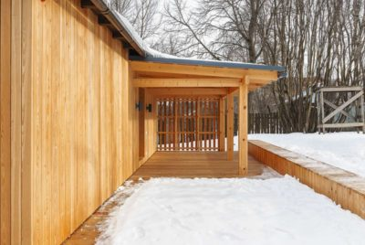 Jardin enneigé - House-Tarusa par Project905 - Tarusa, Russie
