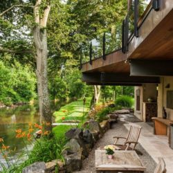 Mobilier jardin arrière maison - Cunius Residence par Paul Macht - Etats-Unis
