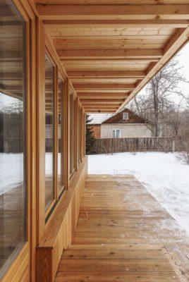 Ouvertures vitrées & façade terrasse - House-Tarusa par Project905 - Tarusa, Russie