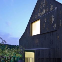 Ouvertures vitrées illuminées - House-Lendenmann par L3P Architekten - Regensberg, Suisse