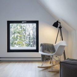 Pièce de détente & repos - Villa-Boreale par Cargo Architecture - Charlevoix, Quebec